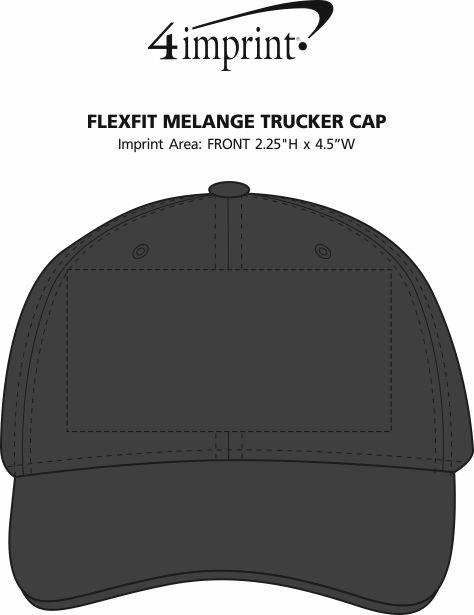 Imprint Area of Flexfit Melange Trucker Cap