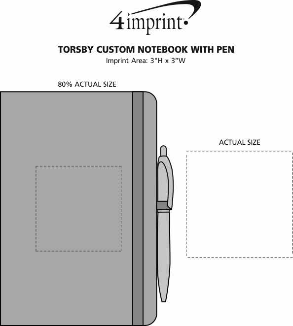 Imprint Area of Torsby Custom Notebook with Pen