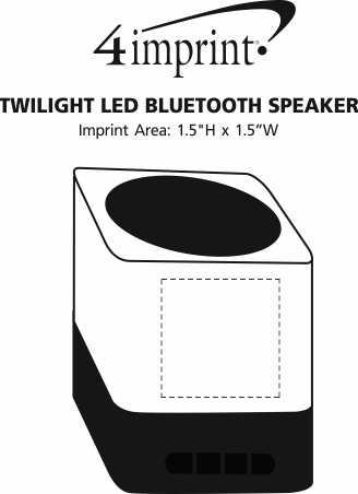 Imprint Area of Twilight LED Bluetooth Speaker