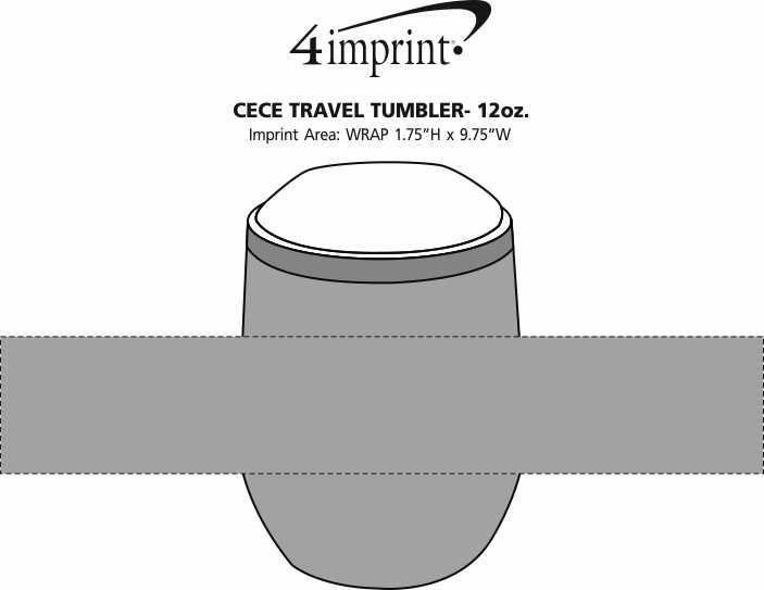Imprint Area of Cece Vacuum Travel Tumbler - 12 oz.