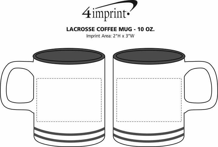 Imprint Area of Lacrosse Coffee Mug - 10 oz.