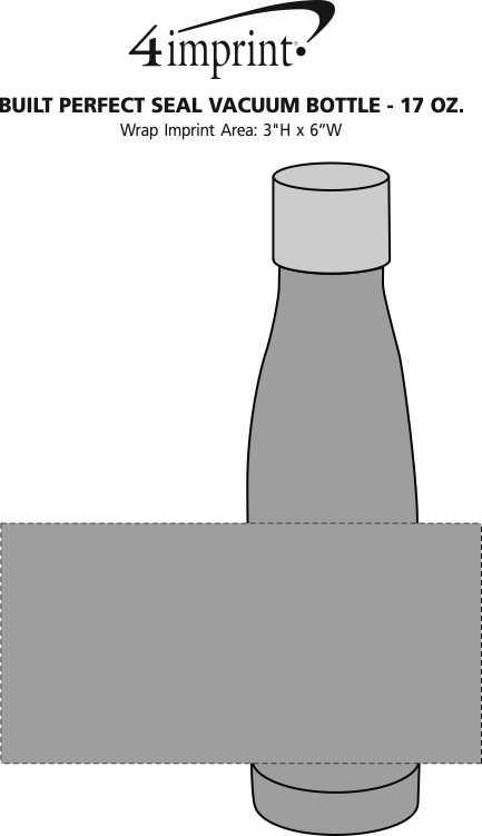 Imprint Area of BUILT Perfect Seal Vacuum Bottle - 17 oz.