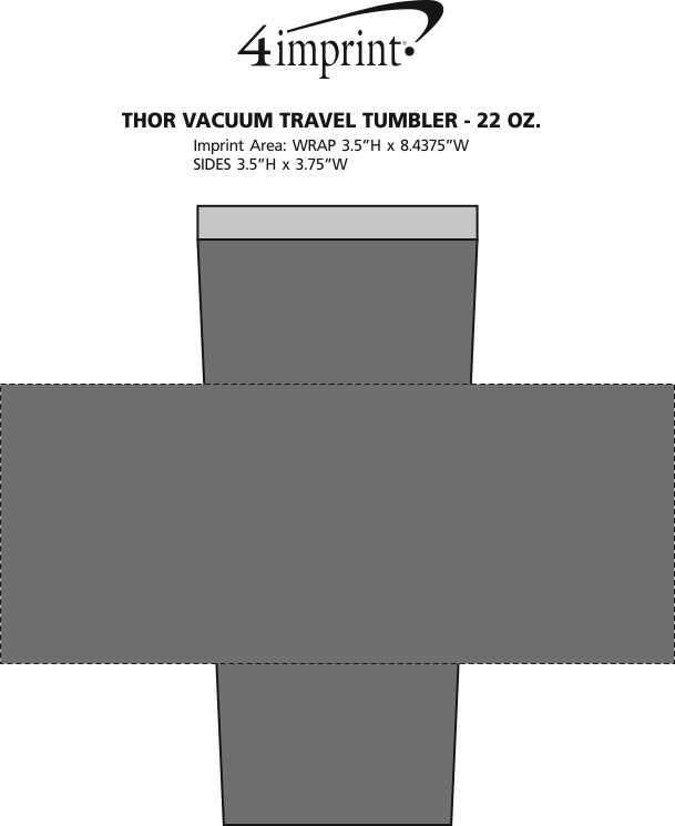 Imprint Area of Thor Vacuum Travel Tumbler - 22 oz.