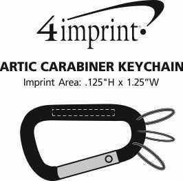 Imprint Area of Arctic Carabiner Keychain