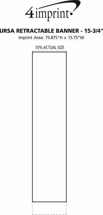"Imprint Area of Ursa Retractable Banner - 15-3/4"""