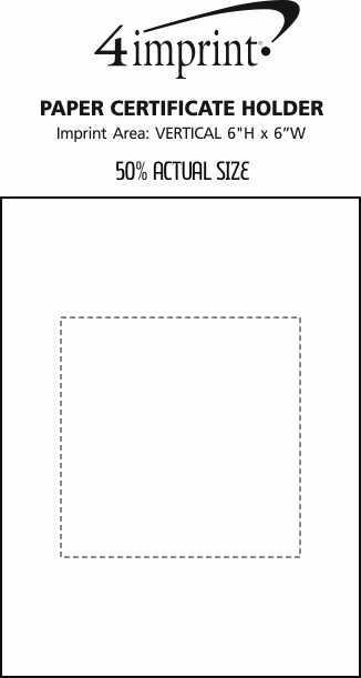 Imprint Area of Paper Certificate Holder - Grandee