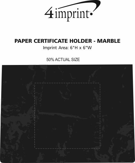 Imprint Area of Paper Certificate Holder - Marble