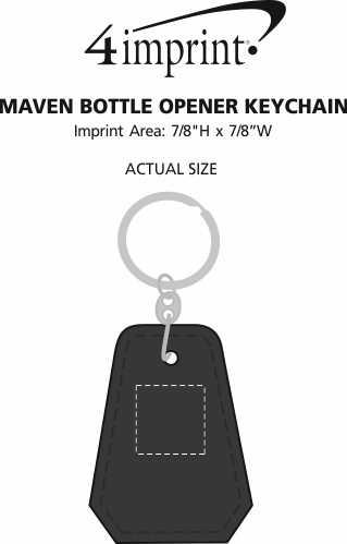 Imprint Area of Maven Bottle Opener Keychain