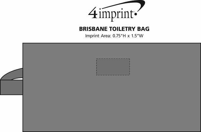 Imprint Area of Brisbane Toiletry Bag