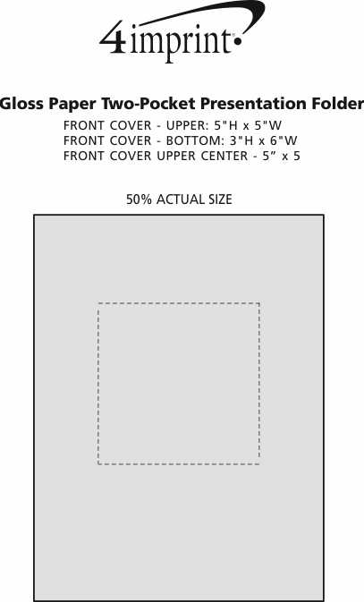 Imprint Area of Gloss Paper Two-Pocket Presentation Folder