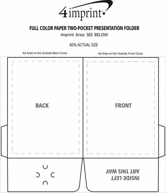 Imprint Area of Full Color Paper Two-Pocket Presentation Folder