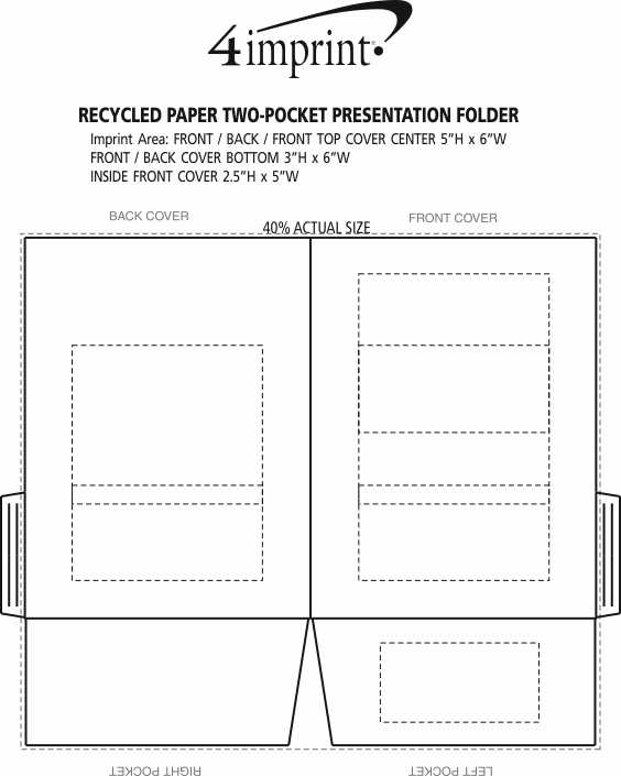 Imprint Area of Recycled Paper Two-Pocket Presentation Folder