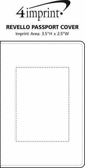 Imprint Area of Revello Passport Cover