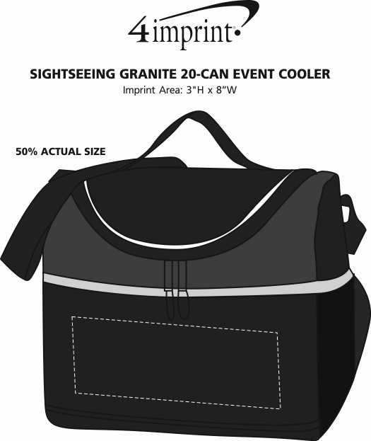 Imprint Area of Sightseeing Granite 20-Can Event Cooler