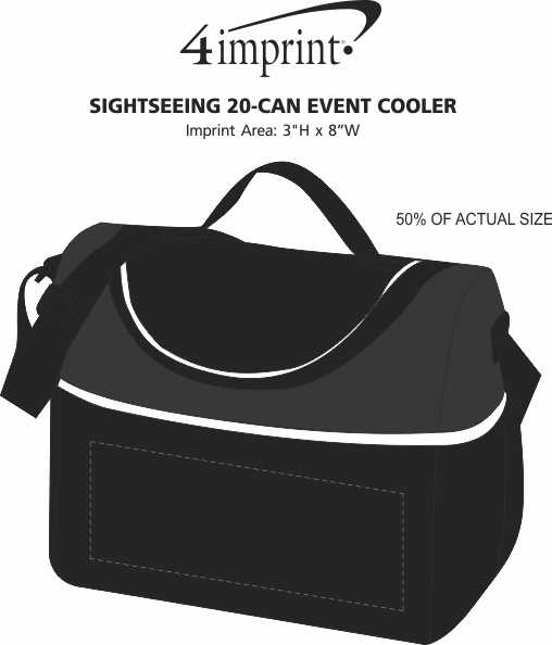 Imprint Area of Sightseeing 20-Can Event Cooler