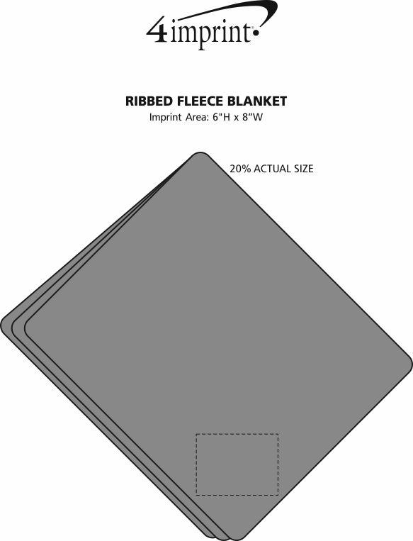 Imprint Area of Ribbed Fleece Blanket