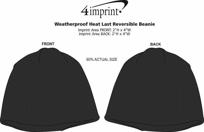 Imprint Area of Weatherproof Heat Last Reversible Beanie