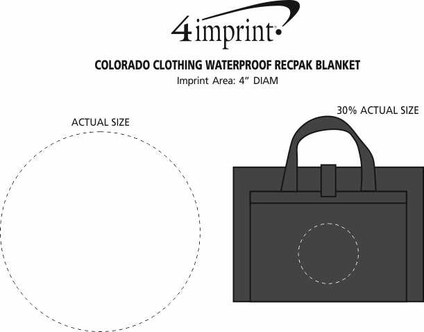 Imprint Area of Colorado Clothing Waterproof RecPak Blanket