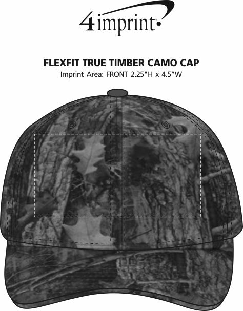 Imprint Area of Flexfit True Timber Camo Cap
