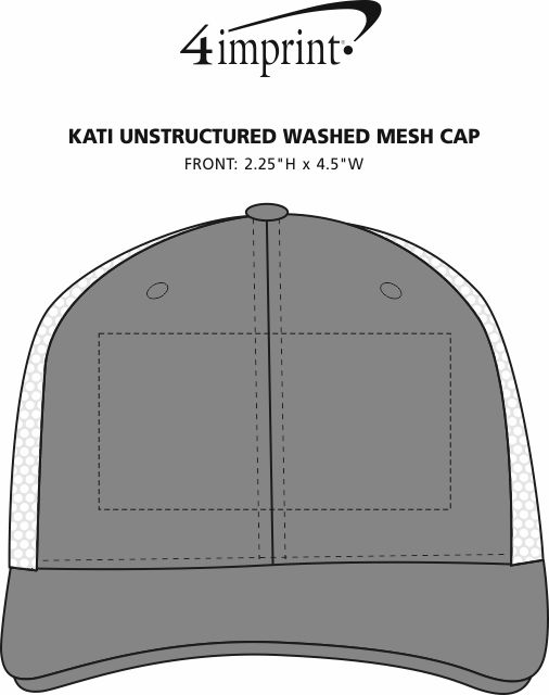 Imprint Area of Kati Unstructured Washed Mesh Cap