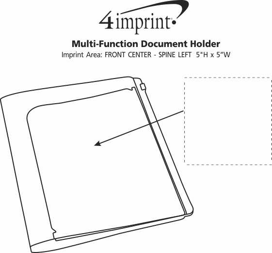 Imprint Area of Multifunction Document Holder