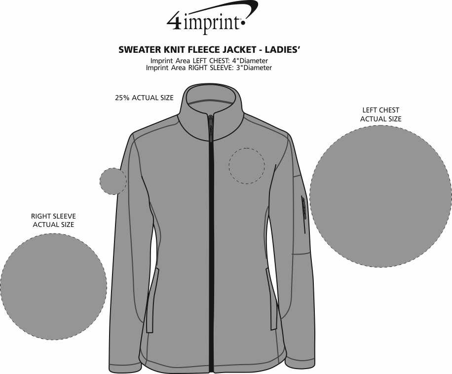 Imprint Area of Sweater Knit Fleece Jacket - Ladies'