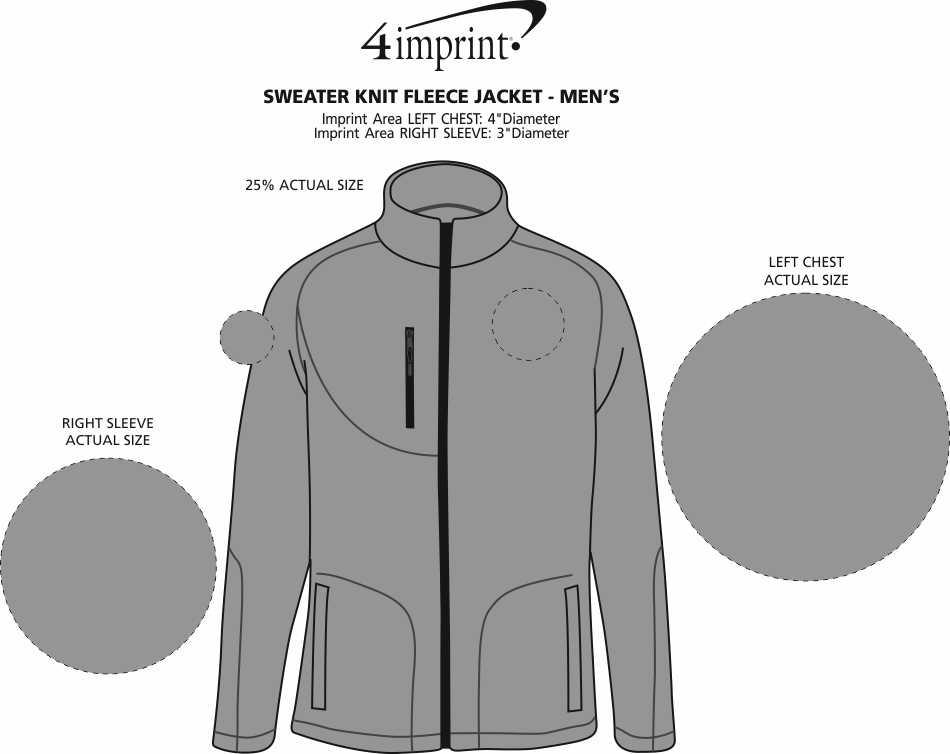 Imprint Area of Sweater Knit Fleece Jacket - Men's