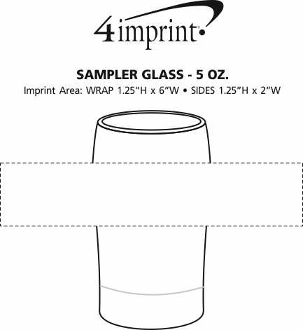 Imprint Area of Sampler Glass - 5 oz.