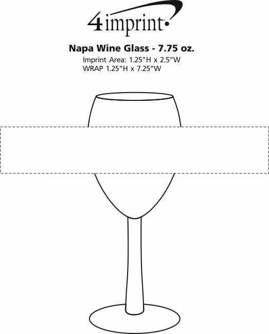 Imprint Area of Napa Wine Glass - 7.75 oz.