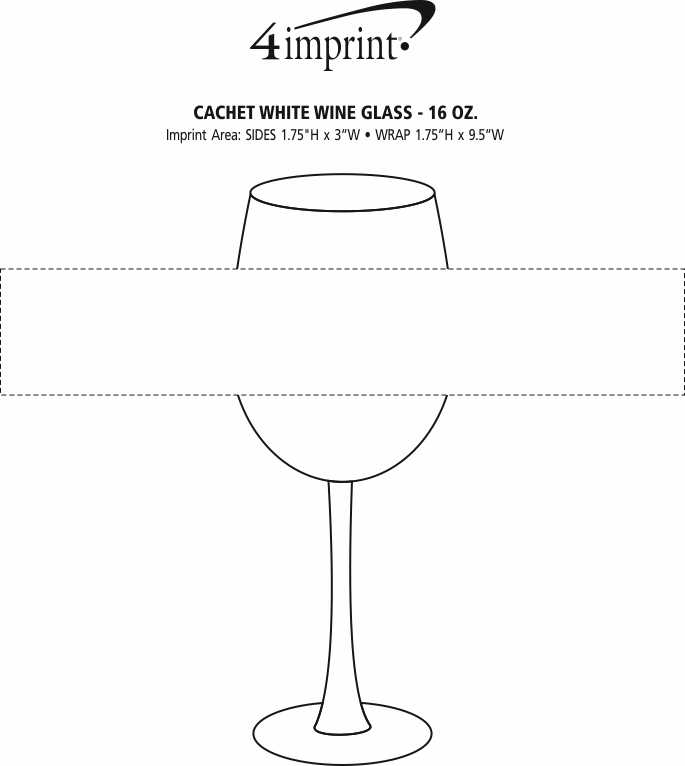 Imprint Area of Cachet White Wine Glass - 16 oz.
