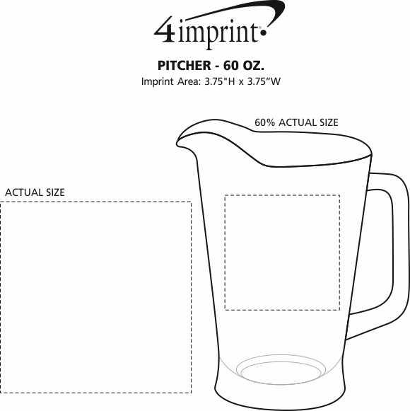 Imprint Area of Pitcher - 60 oz.