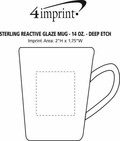 Imprint Area of Sterling Reactive Glaze Mug - 14 oz. - Deep Etch
