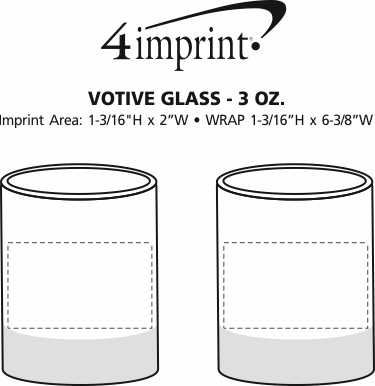 Imprint Area of Votive Glass - 3 oz.