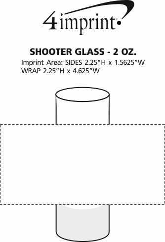 Imprint Area of Shooter Glass - 2 oz.