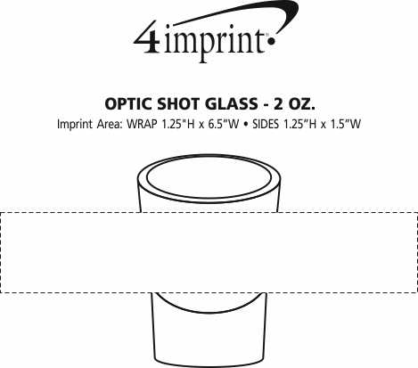 Imprint Area of Optic Shot Glass - 2 oz.