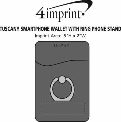 Imprint Area of Tuscany Smartphone Wallet with Ring Phone Stand