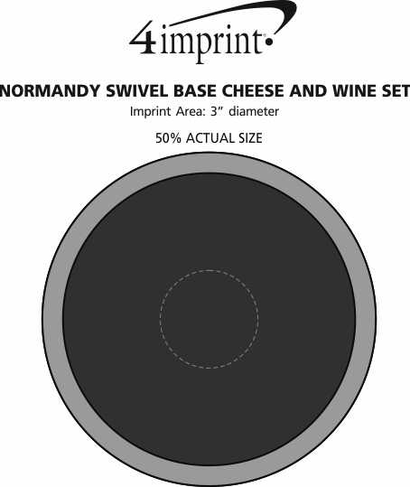 Imprint Area of Normandy Swivel Base Cheese and Wine Set