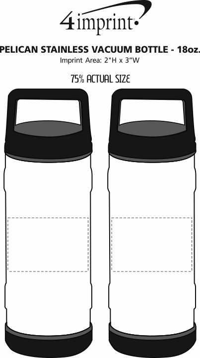 Imprint Area of Pelican Stainless Vacuum Bottle - 18 oz.