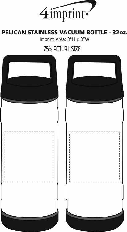 Imprint Area of Pelican Stainless Vacuum Bottle - 32 oz.