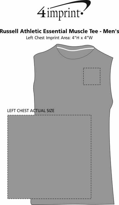Imprint Area of Russell Athletic Essential Muscle Tee - Men's