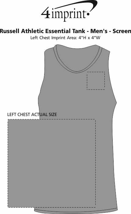 Imprint Area of Russell Athletic Essential Tank - Men's - Screen
