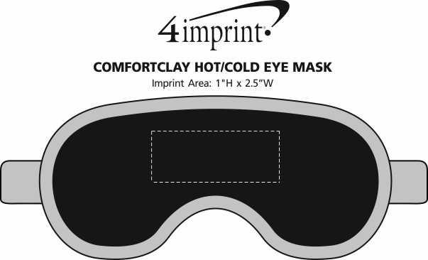 Imprint Area of ComfortClay Hot/Cold Eye Mask