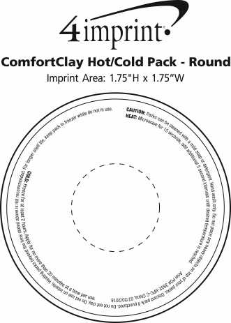 Imprint Area of ComfortClay Hot/Cold Pack - Round