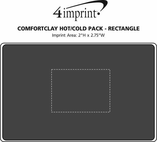 Imprint Area of ComfortClay Hot/Cold Pack - Rectangle
