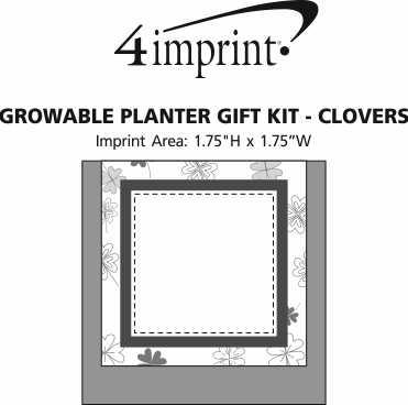 Imprint Area of Growable Planter Gift Kit - Clovers