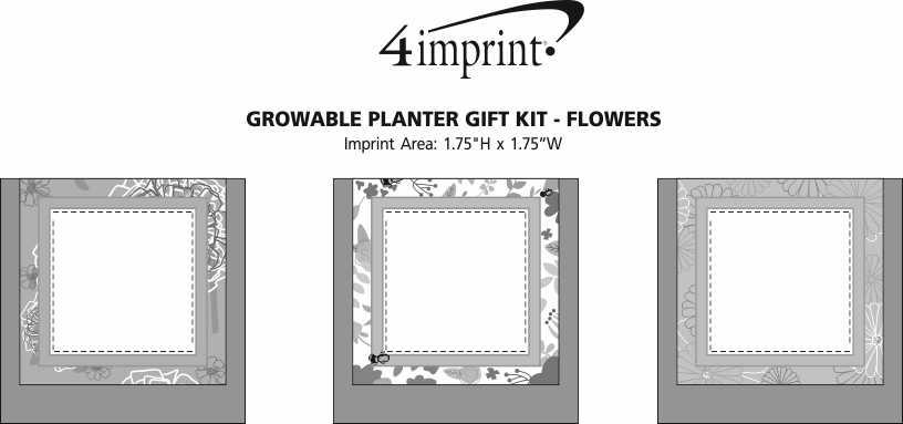 Imprint Area of Growable Planter Gift Kit - Flowers