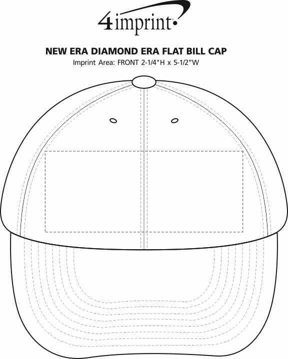 Imprint Area of New Era Diamond Era Flat Bill Cap