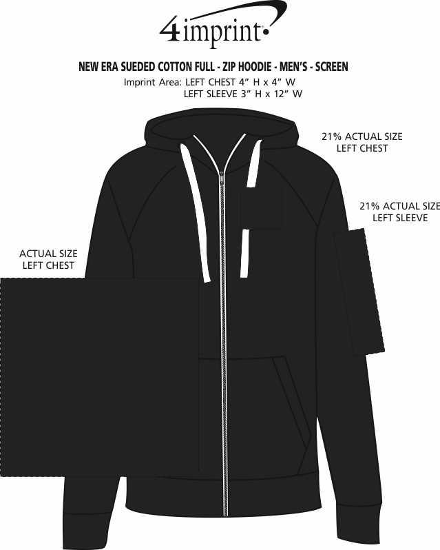 Imprint Area of New Era Sueded Cotton Full-Zip Hoodie - Men's - Screen