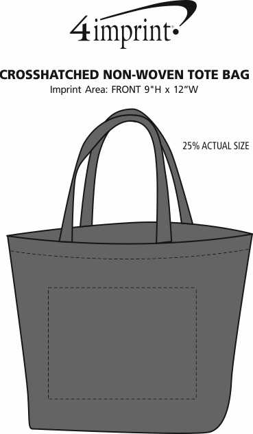 Imprint Area of Crosshatched Non-Woven Tote Bag