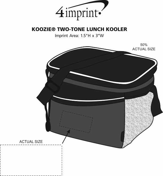 Imprint Area of Koozie® Two-Tone  Lunch Kooler